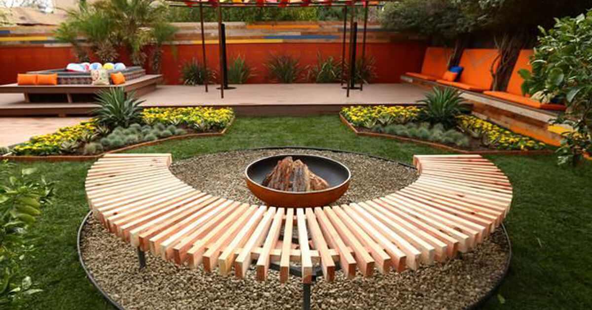 Backyard Idea sloped landscape design ideas designrulz 14 28 Backyard Seating Ideas