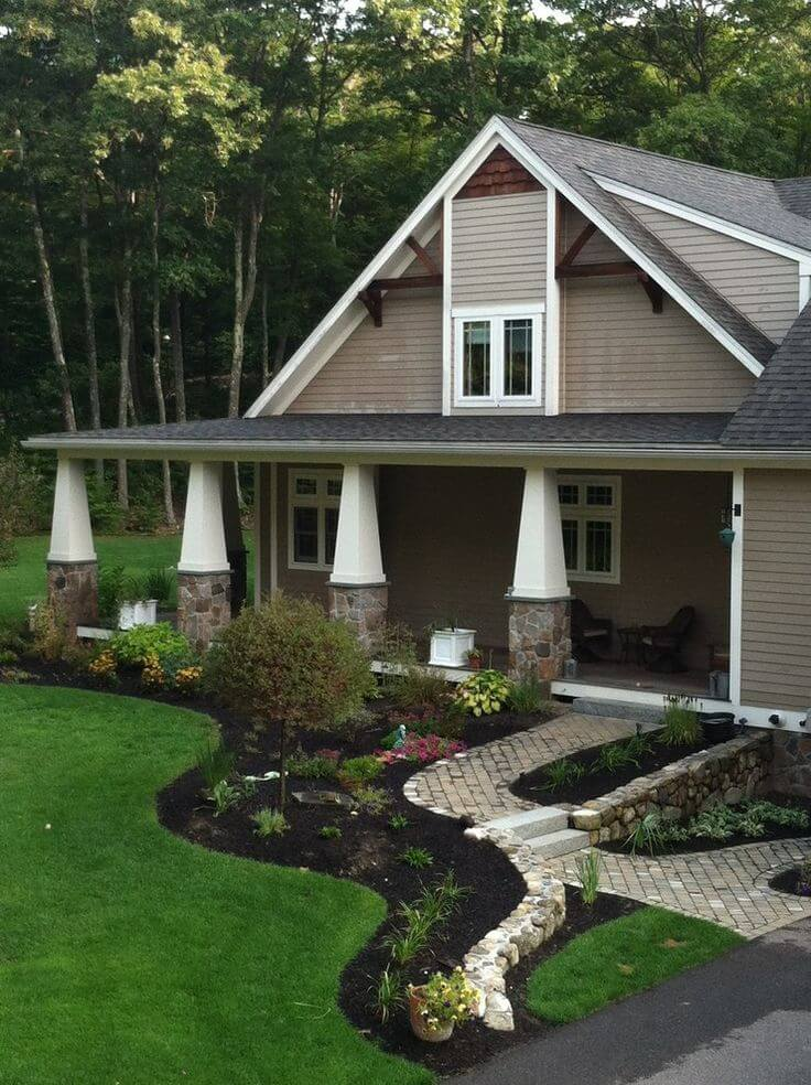 Backyard ideas on a budget for Craftsman landscape design ideas