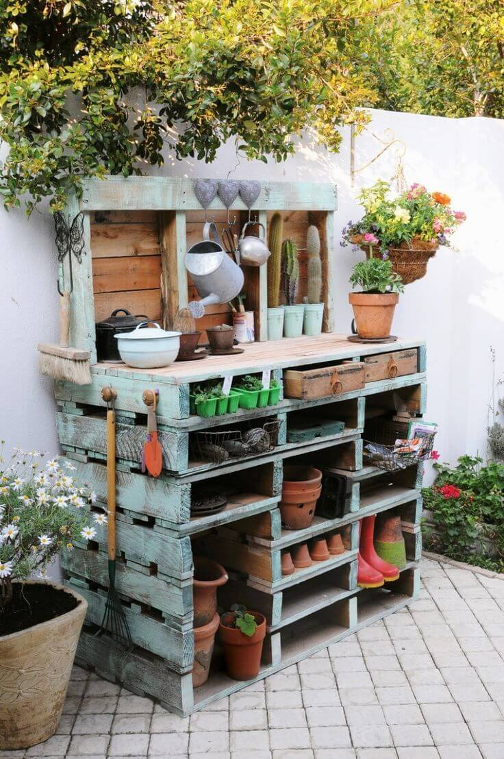 30 genius ways to use pallets in your garden page 5 for Gardening using pallets