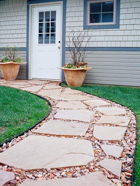 Easy walkway idea for Flagstone designs