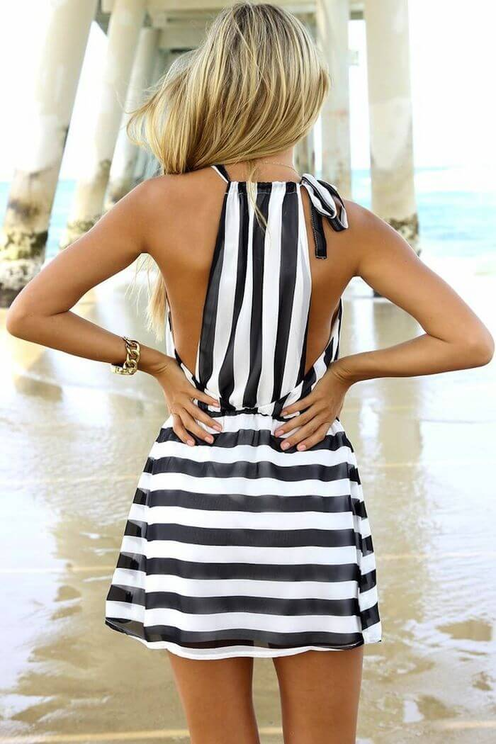 20 Hot Black And White Stripe Dresses For This Summer