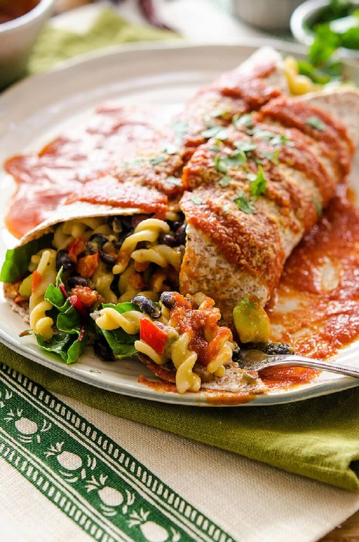 mexican burrito sauce dinner mac romantic recipe recipes burritos food cooked plate veganyackattack worthminer via cheese