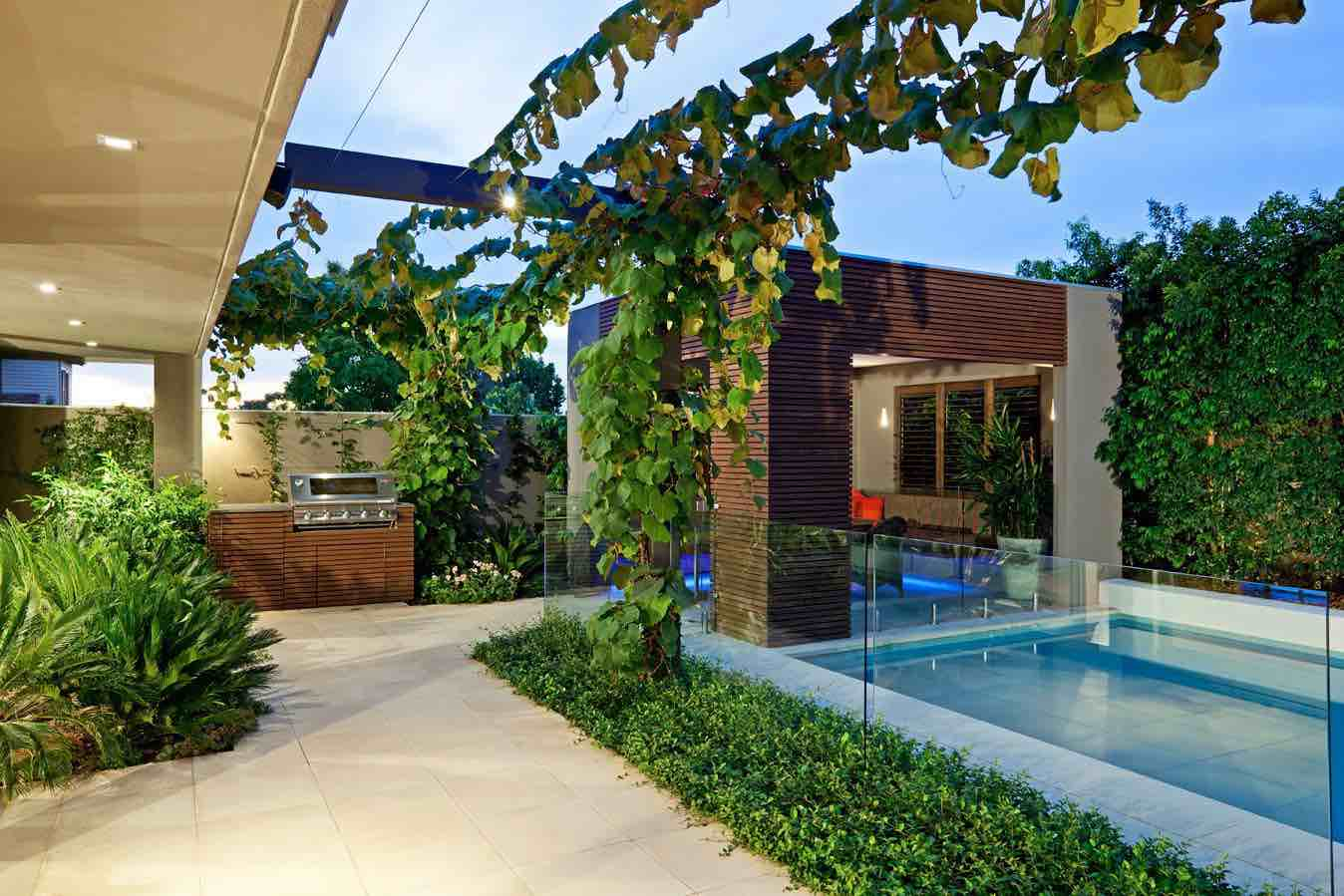 Small backyard home design idea for Outdoor pool backyard