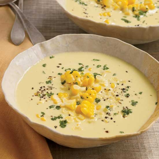 Raw Sweet Corn and Cashew Chowder
