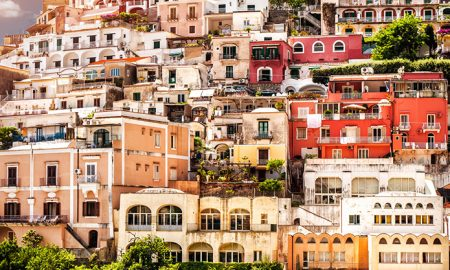 View of Positano. Positano is a small picturesque town on the famous Amalfi Coast in Campania, Italy