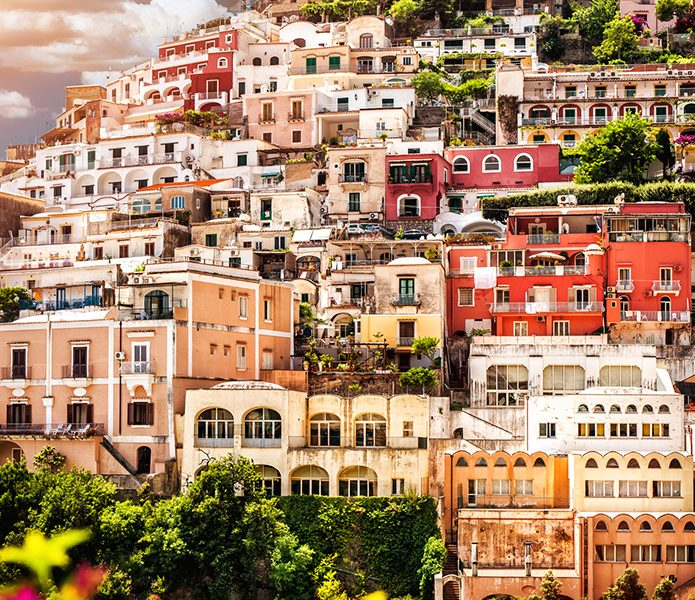 Best Places To Travel Europe April: View-of-Positano.-Positano-is-a-small-picturesque-town-on