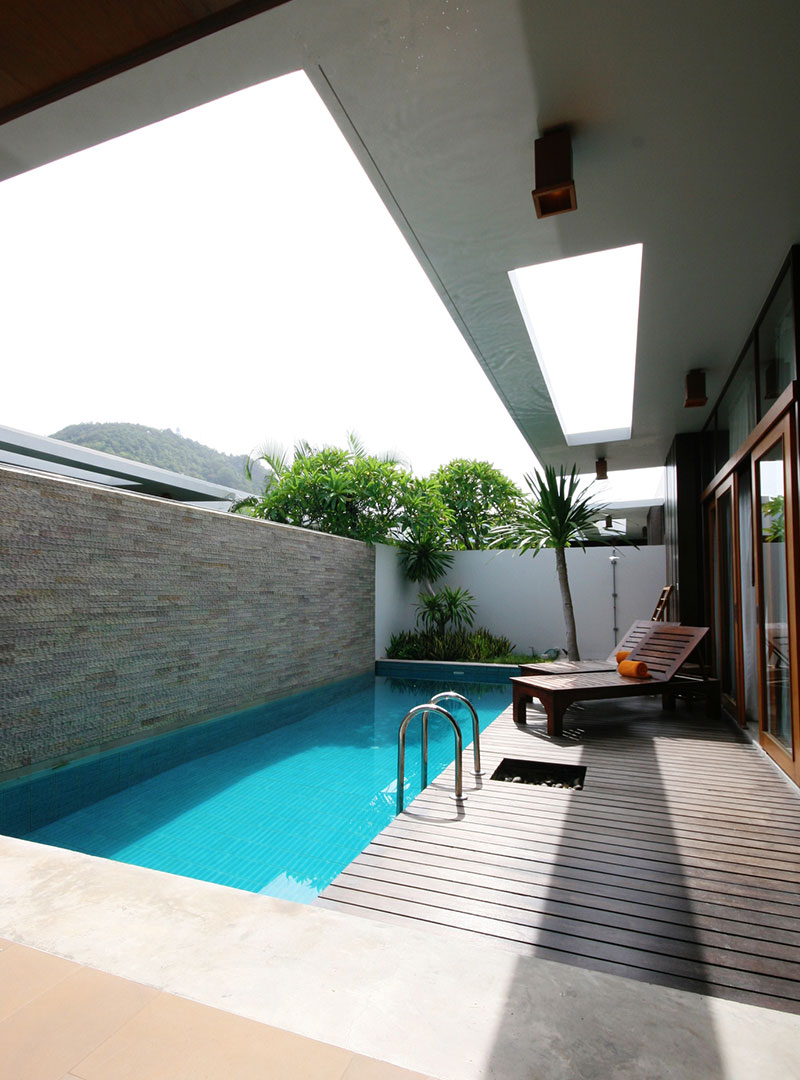 Outdoor swimming pool ideas and designs for Albercas modernas