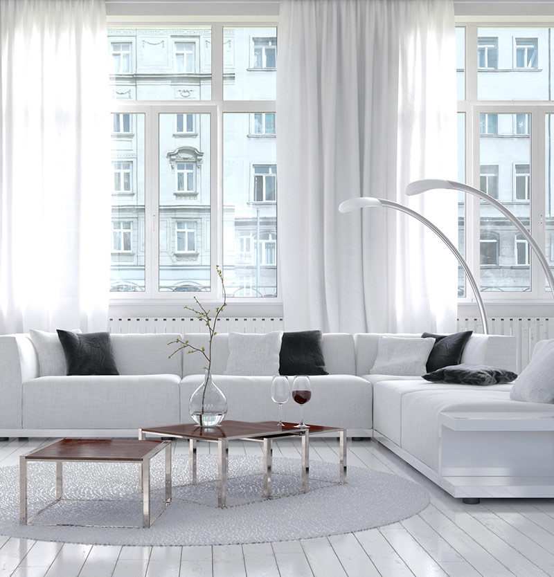 10 Luxurious White Living Room Ideas