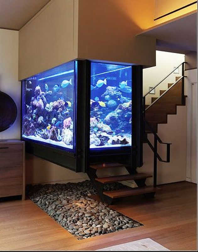 Aquarium Living Room Decor: 15 Amazing Ideas With Interior Aquariums
